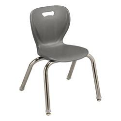 "Shapes Series Preschool Chair (14"" H) - Graphite"