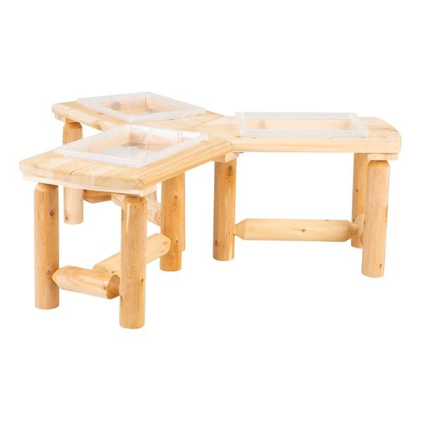 Outdoor Cedar Work Around Sensory Table