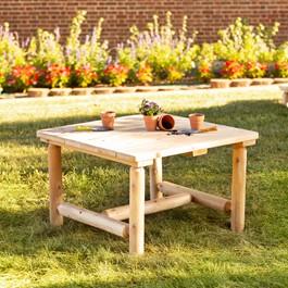 Outdoor Cedar Preschool Activity Table
