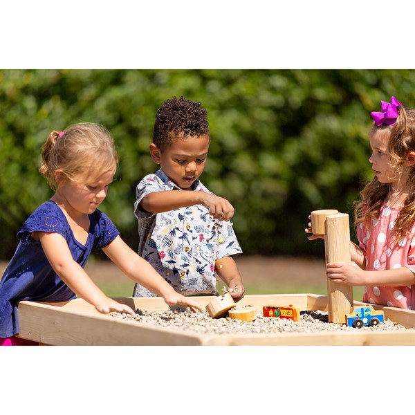 Outdoor Cedar Preschool Activity Table w/ Lip