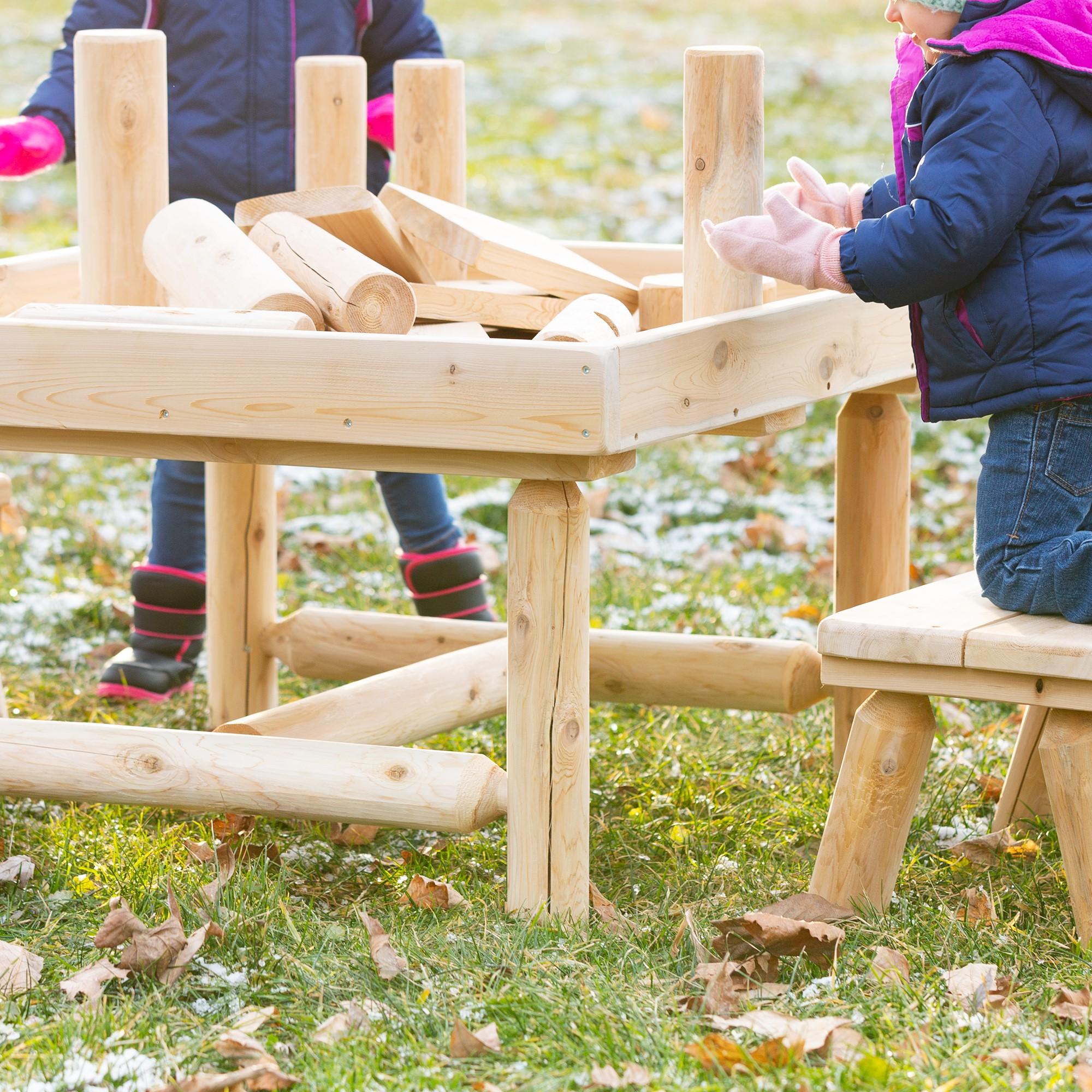 SPG-KEE2012-SO Sprogs Outdoor Preschool Cedar Bench 12 Seat Height
