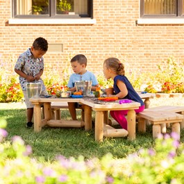Outdoor Cedar Work Around Activity Table