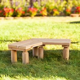 Outdoor Cedar Work Around Bench