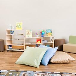 Natural Colors Floor Pillow Set w/ Alphabet Images Natural Colors Rug