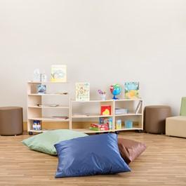 Natural Colors Floor Pillow Set