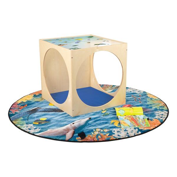 Acrylic Top Ocean Play House Cube w/ Floor Mat