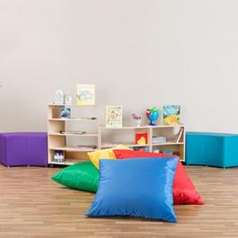 Primary Colors Floor Pillow Set