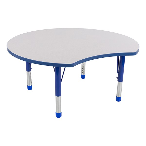 preschool table. Crescent Adjustable-Height Preschool Collaborative Table 1