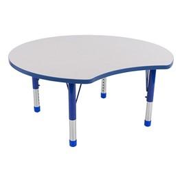 Crescent Adjustable-Height Preschool Collaborative Table