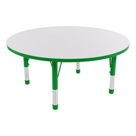 Round Adjustable-Height Preschool Collaborative Table