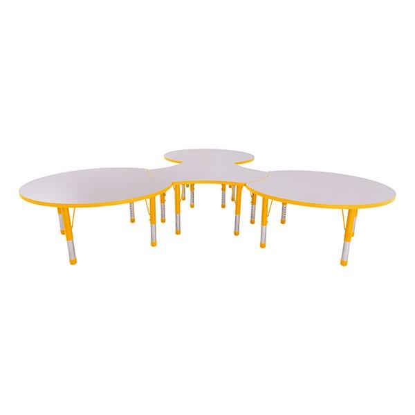 preschool table. Preschool Crescent \u0026 Cog Collaborative Table W/ Gray Top Set