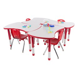Preschool Bow Tie Collaborative Table & Chair Set