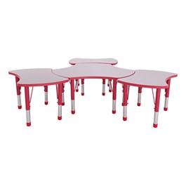 Preschool Bow Tie & Cog Collaborative Table w/ Gray Top Set