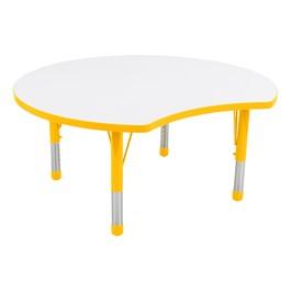 Crescent Adjustable-Height Preschool Collaborative Table w/ Whiteboard Top