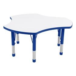 Cog Adjustable-Height Preschool Collaborative Table w/ Whiteboard Top - Blue