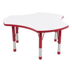 Cog Adjustable-Height Preschool Collaborative Table w/ Whiteboard Top