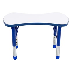 Bow Tie Adjustable-Height Preschool Collaborative Table w/ Whiteboard Top