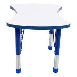 Preschool Bow Tie Collaborative Table w/ Whiteboard Top Set - Four Bow Tie Tables