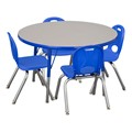 Round Adjustable-Height Preschool Table & Chair Set