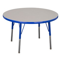 "Round Adjustable-Height Preschool Table & Four Structure Chairs - (36"" Diameter) - 12"" Seat Height - Table"