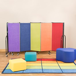 Preschool Room Divider w/ Soft Seating
