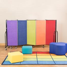 Preschool Room Divider w/ Soft Seating