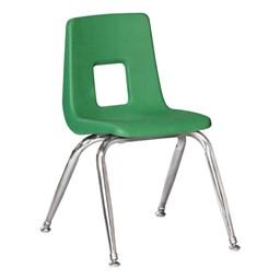 100 Series Preschool Chair w/ Chrome Legs – Green