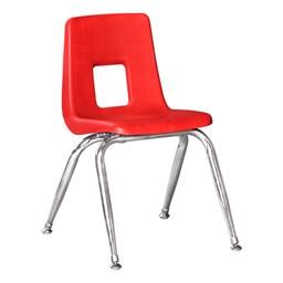 100 Series Preschool Chair w/ Chrome Legs – Red