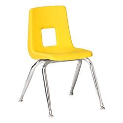 100 Series Preschool Chair w/ Chrome Legs – Yellow