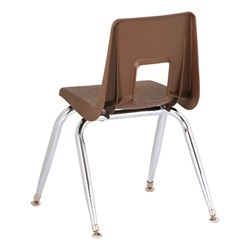 "Assorted Natural Colors 100 Series Preschool Chair w/ Chrome Legs (13 1/2"" Seat Height) - Brown"