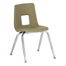 "Assorted Natural Colors 100 Series Preschool Chair w/ Chrome Legs (13 1/2"" Seat Height) - Green"