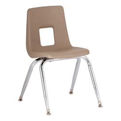 "Assorted Natural Colors 100 Series Preschool Chair w/ Chrome Legs (13 1/2"" Seat Height) - Tan"