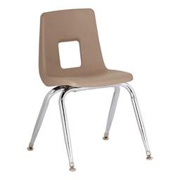 "Assorted Natural Colors 100 Series Preschool Chair w/ Chrome Legs (9 1/2"" Seat Height) - Tan"