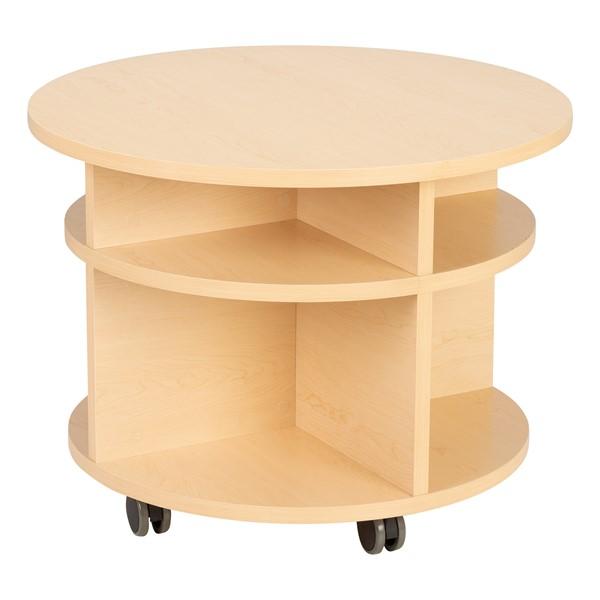 "Spool Table w/ Bins (32"" diameter x 24"" H)"