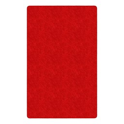 Healthy Living Solid Color Rug - Rectangle - Red