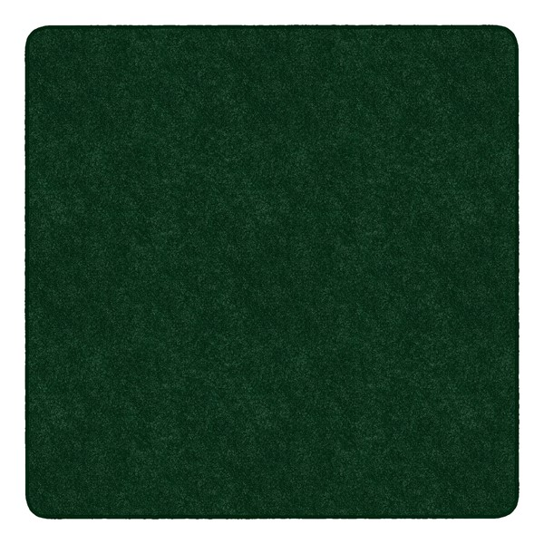 Healthy Living Solid Color Rug - Square (6' W x 6' L) - Ermerald Green