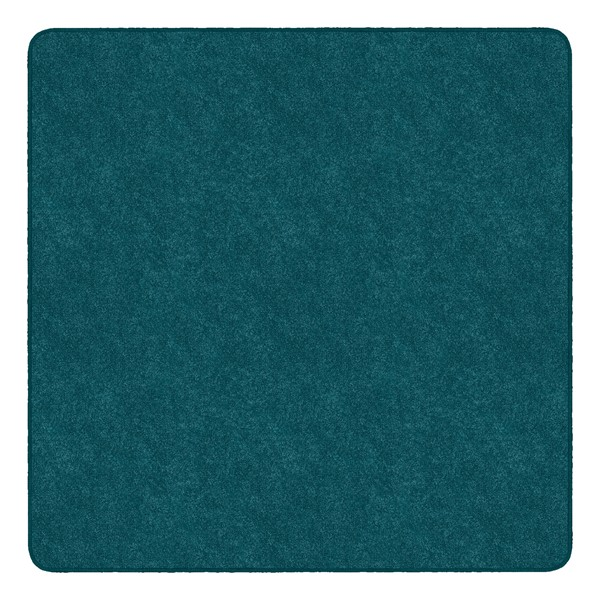 Healthy Living Solid Color Rug - Square (6' W x 6' L) - Marine Blue