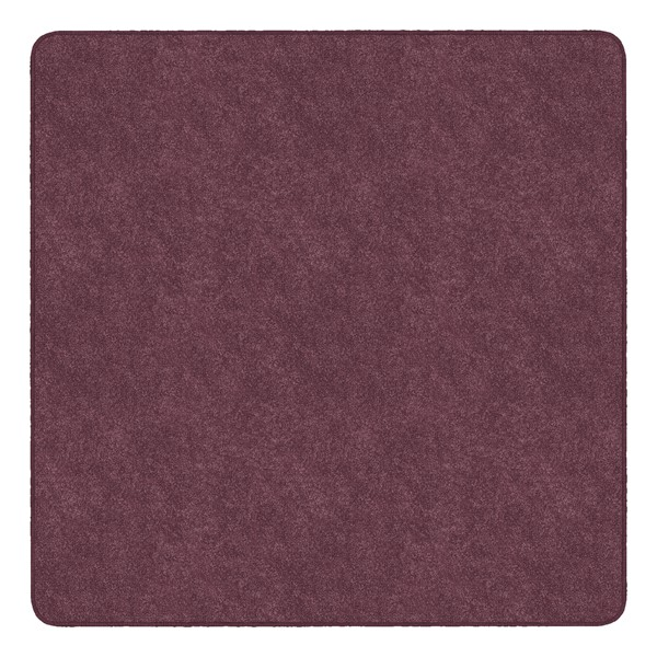 Healthy Living Solid Color Rug - Square (6' W x 6' L) - Plum