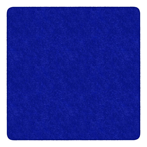 Healthy Living Solid Color Rug - Square (6' W x 6' L) - Royal Blue