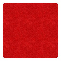 Healthy Living Solid Color Rug - Square (6' W x 6' L) - Red