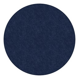 Healthy Living Solid Color Rug - Round - Navy