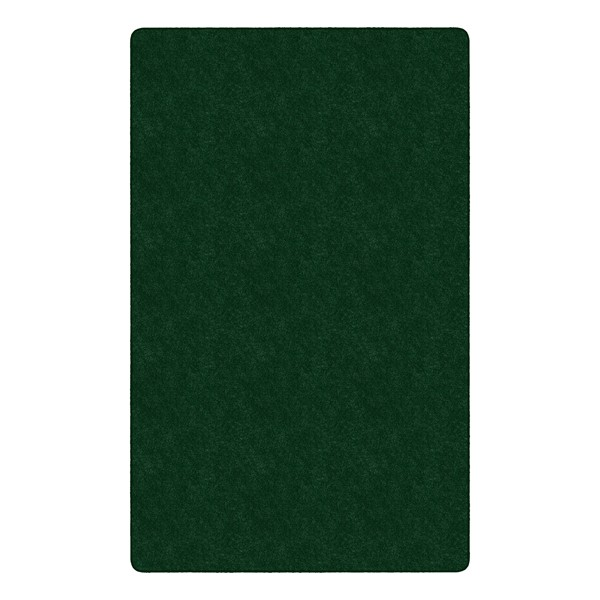 Healthy Living Solid Color Rug - Rectangle (12' W x 15' L) - Emerald Green