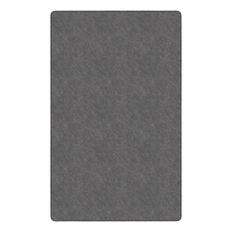 Healthy Living Solid Color Rug - Rectangle - Gray