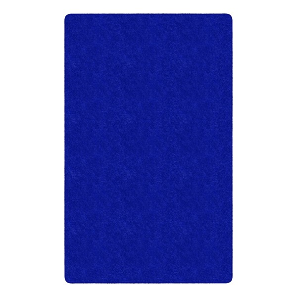 Healthy Living Solid Color Rug - Rectangle (12' W x 15' L) - Royal Blue