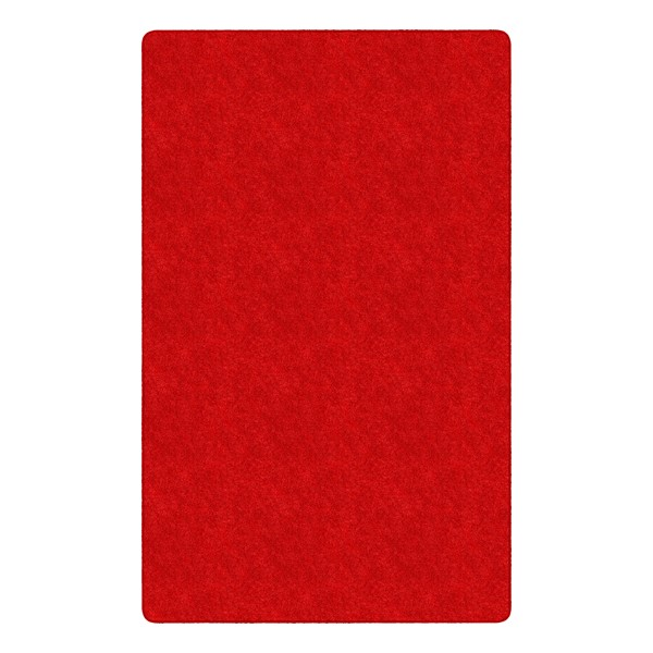Healthy Living Solid Color Rug - Rectangle (12' W x 15' L) - Red