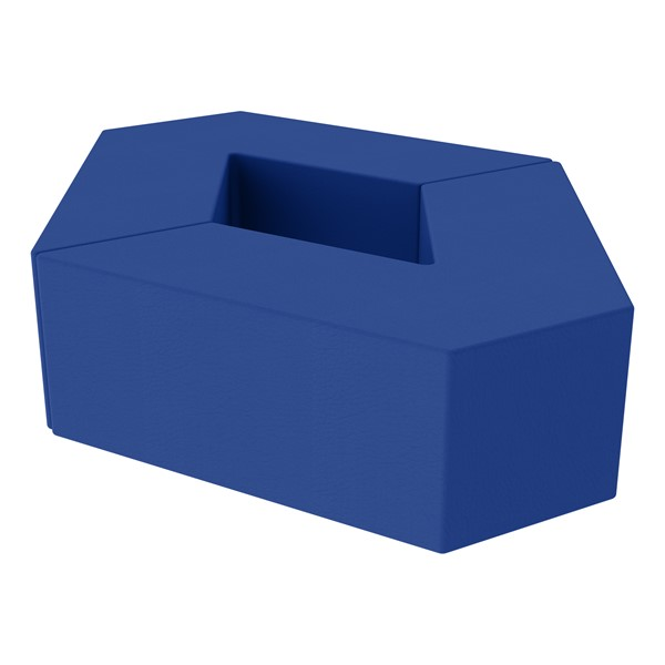 "Foam Soft Seating Set - Diamond Pack 12"" Seat Height (Set of Two V-Shape) - Blue"