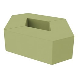 "Foam Soft Seating Set - Diamond Pack 12"" Seat Height (Set of Two V-Shape) - Fern Green"