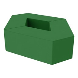 "Foam Soft Seating Set - Diamond Pack 12"" Seat Height (Set of Two V-Shape) - Green"