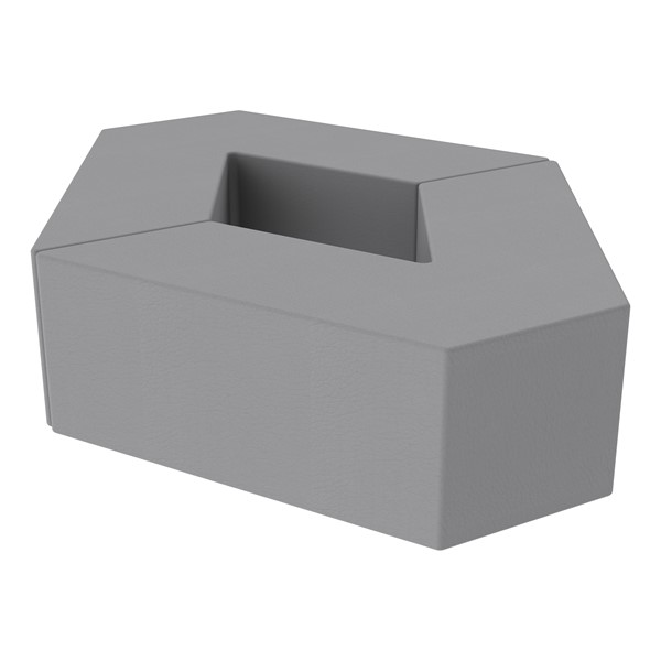 "Foam Soft Seating Set - Diamond Pack 12"" Seat Height (Set of Two V-Shape) - Gray"