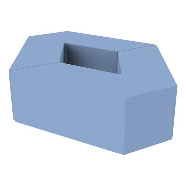 "Foam Soft Seating Set - Diamond Pack 12"" Seat Height (Set of Two V-Shape) - Powder Blue"